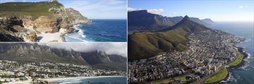 Cape Point, Headland and Cape Town aerial view