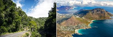 The Garden Route and an aerial view of Cape Town