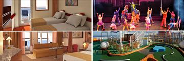 Carival Sensation Balcony Stateroom, Stage shows, Mini Golf, Grans Suite Extended Balcony