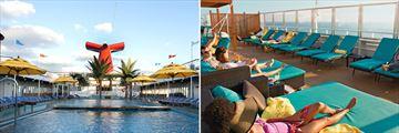 Carnival Valor Main and Serenity Pools