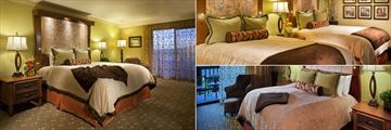 Executive King Room, Deluxe Double Room and Deluxe King Room at Cheyenne Mountain Resort