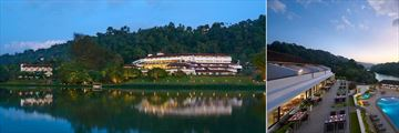 Cinnamon Citadel Kandy, Resort from River and Panorama Restaurant Terrace
