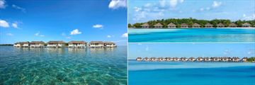 Cinnamon Dhonveli Maldives, Over Water Suites, Beach Bungalows and Water Bungalows
