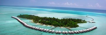Aerial resort view of Cinnamon Hakuraa Huraa Maldives