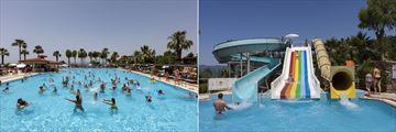 Main pool and aqua park at Club Tuana Fethiye