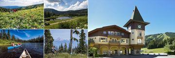 Coast Sundance Lodge, Local Activities - Hiking, 18 Hole Golf Course, Exterior of Lodge, Biking and Canoeing
