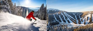 Coast Sundance Lodge, Skiing and Aerial View of Sun Peaks Resort in Winter