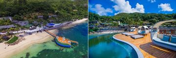 Coco de Mer Hotel & Black Parrot Suites, Aerial View of Resort and Jetty