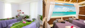 Coconut Bay Beach Resort & Spa, Spa Treatment Room and Spa Oceanfront Champagne Cabana