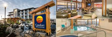 Comfort Inn & Suites Campbell River, Exterior, Breakfast Area and Indoor Pool and Hot Tub