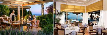 Palm Tree Restaurant and Zephyr Restaurant at Constantinou Bros Athena Beach Hotel