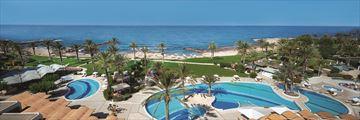 Aerial view of pool at Constantinou Bros Athena Beach Hotel