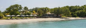 Cotton House, Mustique, Beach Cafe from Endeavour Bay