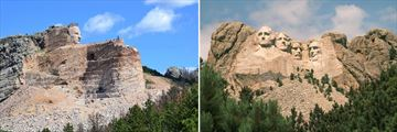 Crazy Horse Memorial & Mount Rushmore