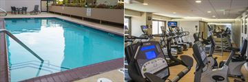 Lap Pool and Fitness Centre at Crowne Plaza Los Angeles Airport