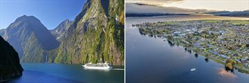 Cruise on Milford Sound & Te Anau Townscape
