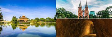 Dem Sen Park, Notre Dam Basilica & the Cu Chi Tunnels, Ho Chi Minh