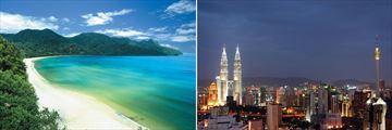 Datai Bay, Lankgawi & Kuala Lumpur City Skyline
