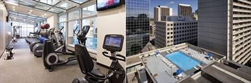 Fitness Centre and Rooftop Pool at Delta Hotels by Marriott Winnipeg