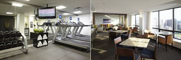 Fitness Centre and Club Lounge at Delta Ottawa City Centre