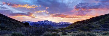 Sunrise over the desert near Salt Lake City