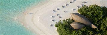 Aerial view of Dhigali Maldives