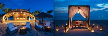 Fusion Resort Phu Quoc's Beach Bar and romantic dining at night