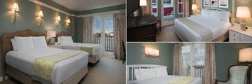 Bedrooms at Disney's BoardWalk Inn