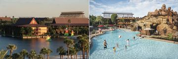 Disney's Polynesian Resort, Beach, Resort and Lava Pool