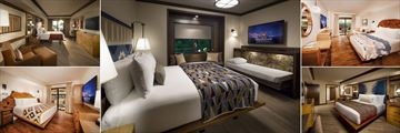 Selection of Bedrooms at Disney's Wilderness Lodge