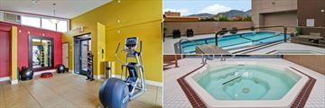 Gym, Pool and Hot Tub at Doubletree by Hilton Hotel Kamloops