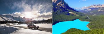 Driving through the Icefields Parkway & Peyto Lake