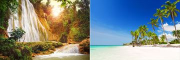 El Limon waterfall and beautiful beaches in the Dominican Republic