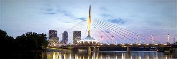 Esplanade Riel Pedestrian Bridge, Winnipeg, Manitoba