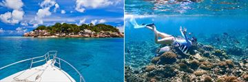 Exploring the Seychelles by boat and snorkelling