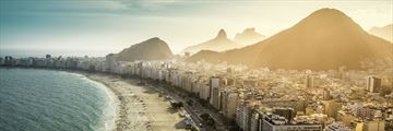 Famous Copacabana Beach Aerial View