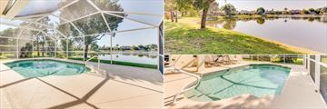 Fort Myers Area Pool Homes, Indoor Pool, Exterior and Pool Close Up