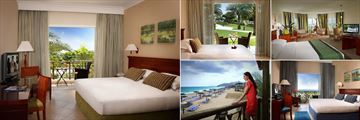 Fujairah Rotana Resort & Spa, (clockwise from left): Premier King Room, Classic Twin Terrace, Premier Ocean View Suite, Classic King Room and Balcony View
