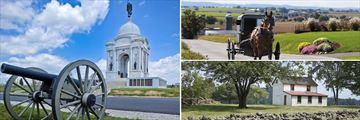 Gettysburg Memorials & Amish Transportation in Pennsylvania