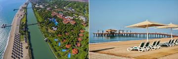 Aerial view and beach at Gloria Golf Resort