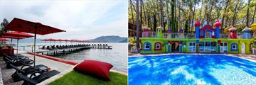 Kiyi Beach and the kids club at  Grand Yazici Club Marmaris Palace