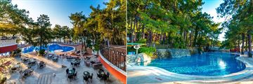 The main pool and second pool at  Grand Yazici Club Marmaris Palace