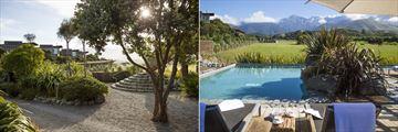 Hapuku Lodge & Tree Houses, Lodge Gardens and Poolside