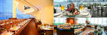 The Promenade, Waterfront Bar & Terrace and The Promenade Buffet at Harbour Grand Kowloon