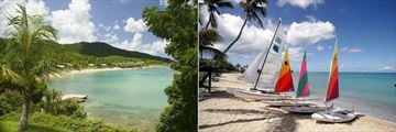 View from Sugar Mill and Watersport Activities at Hawksbill by Rex Resorts