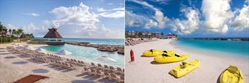 Heaven at Hard Rock Hotel Riviera Maya, Beach and Kayaking