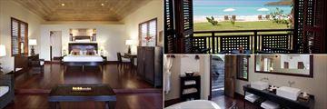 Suite Interiors at Hermitage Bay Hotel