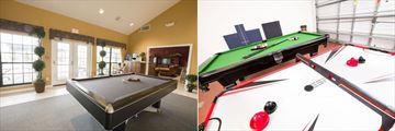 Club House Games Room and Homes' Private Game Room at High Grove Homes