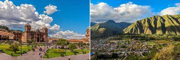 Architecture in Cusco, and gorgeous vistas at Valle Sagrado