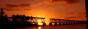 The historic Old Bahia Honda Bridge, Florida Keys
